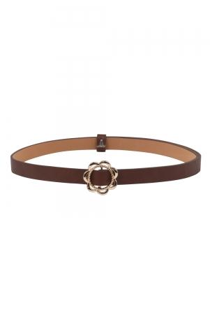 Decorative Buckle Belt Brown