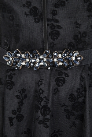Beaded Floral Elasticated Waist Belt