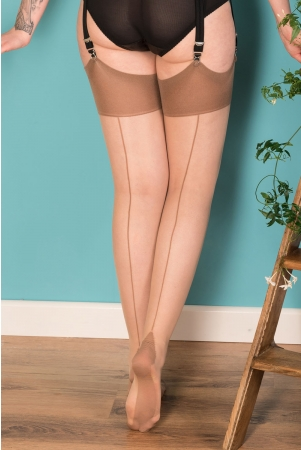 Seamed Stockings Latte Glamour by What Katie Did