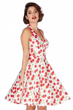 Sybll Cherry Print Halterneck Dress