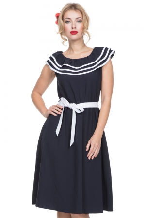 Hope Nautical Dress with Frills