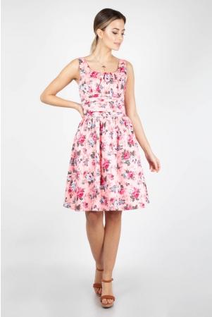 Ethal Pink Floral Summer Dress
