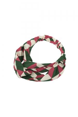 Geometric Twist Headband Pink