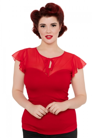 Alyssa Red Sweetheart Top