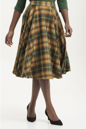 Bridget Plaid Full Circle Skirt