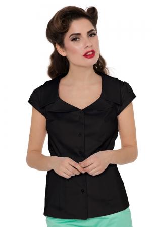 Julie Black Collar Shirt