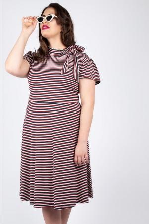 Vixen Curve Corinna Striped Tie Dress