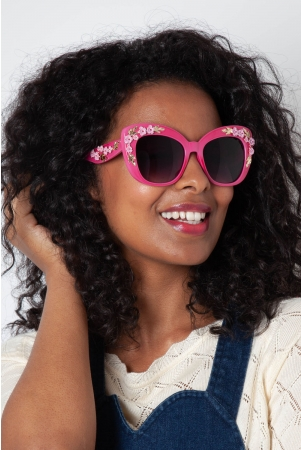 Decorative Pink Floral Glasses