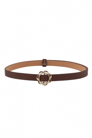 Decorative Buckle Belt Brown