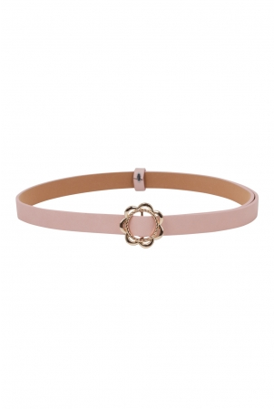 Decorative Buckle Belt Pink