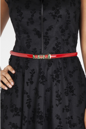 Red Rose Adjustable Waist Belt