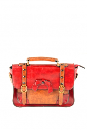 Paulie Red Satchel