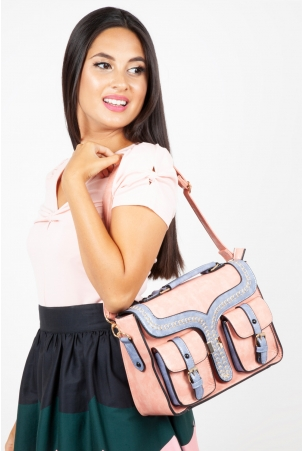 Freya Satchel in Pink