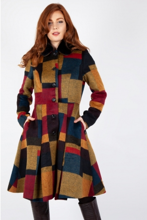 Blaire Patchwork Coat