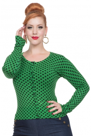 Wylie Green Polka Dot Cardigan