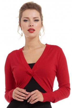 Elle Red Bolero Cardigan