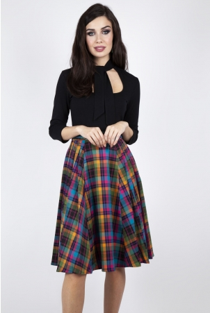 Camilla Pleated Plaid Skirt