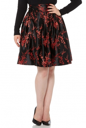 Cara Flared Rose Skirt