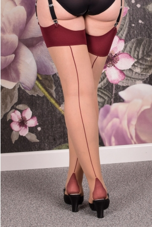Seamed Stockings Burgundy Glamour by What Katie Did