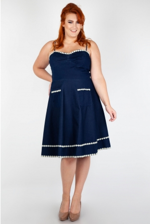 Vixen Curve Daisy May Denim Flared Dress