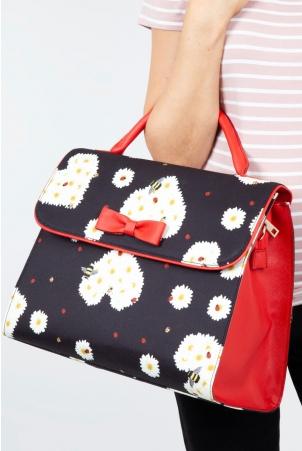 Ditsy Daisy Heart Handbag