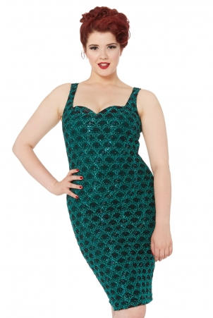 Fleur Vintage Pin Up Style Dress