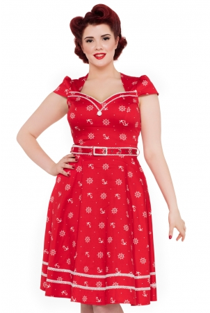 Leslie 50s Nautical Dress