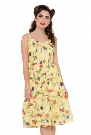 Sylvia Yellow Floral Dress