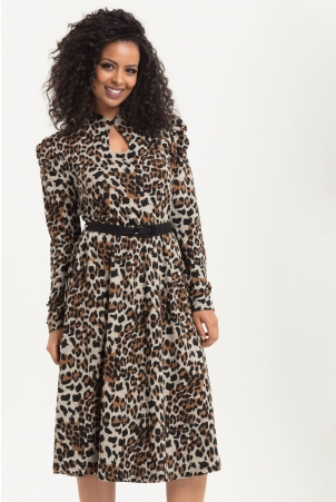 Dita Leopard Print Dress