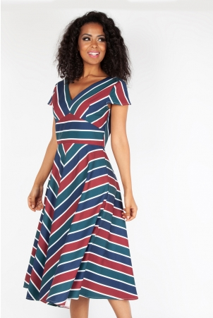 Addison Striped Swing Dress