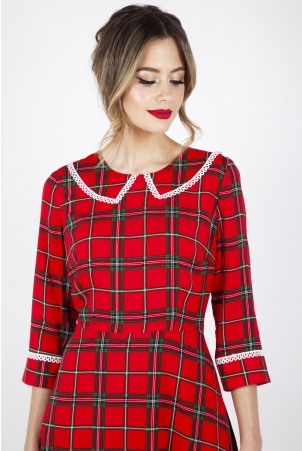 Harley Shadow Collar Tartan Dress