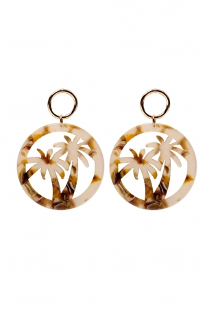 Club Tropicana Resin Earrings