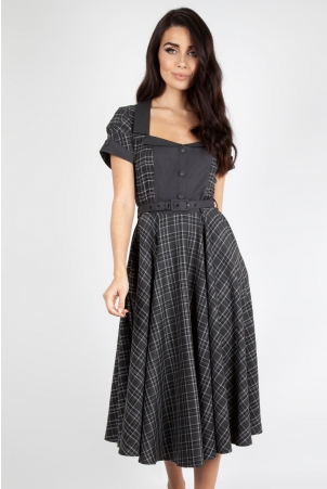 Ella Tartan Flare Dress