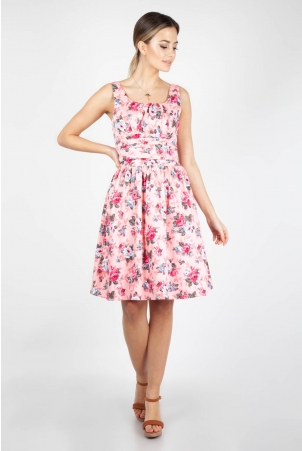 Ethal Pink Floral Summer Dress