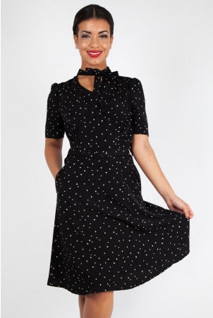 Frances Heart Polka Dot Tea Dress