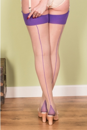 Seamed Stockings Purple Glamour by What Katie Did