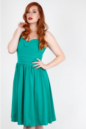 Grace Green Flared Dress