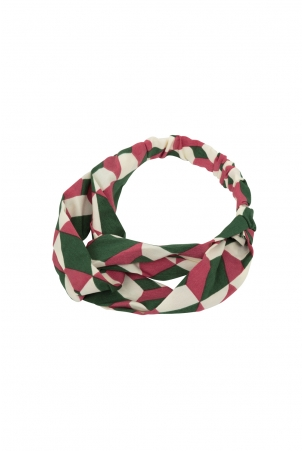 Geometric Twist Headband Pink