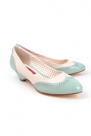 Ida Mint Low Heel Pumps by B.A.I.T