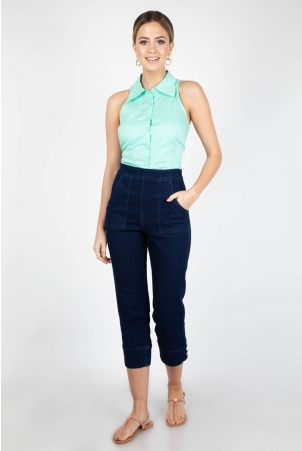 Jasmine Mint Sleeveless Shirt