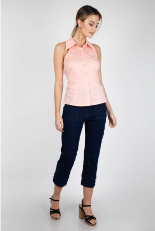 Jasmine Pink Sleeveless Shirt