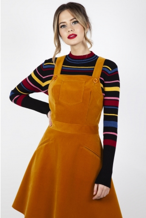 Katie Corduroy Overall Dress