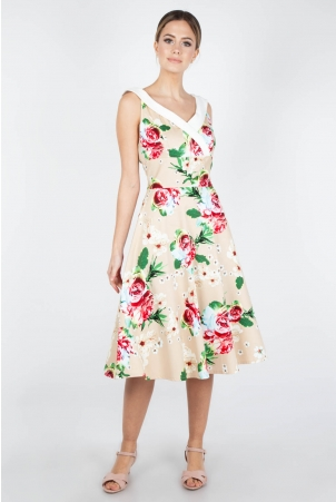 Lillian Floral Swing Dress