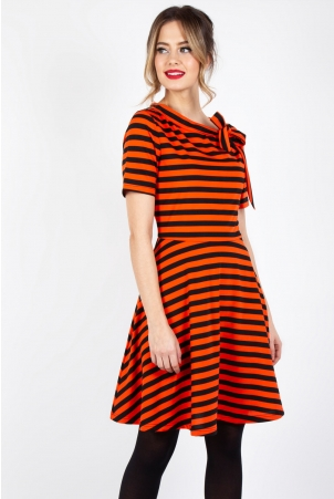 Marnie Striped Flare Dress
