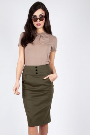 Martha 40s Pencil Skirt