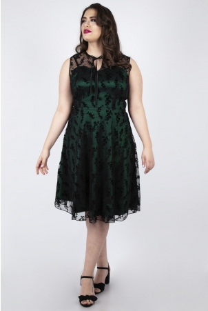 Vixen Curve Penny Green Lace Dress