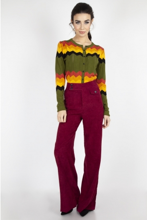Reese Wide Leg Corduroy Trousers