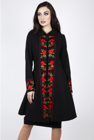 Rosalind Embroidered Floral Coat