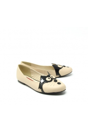 Sassy Black Cat Flats by B.A.I.T-Black-5.5