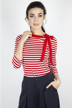 Vixen Curve Sidney Striped Neck Tie Top